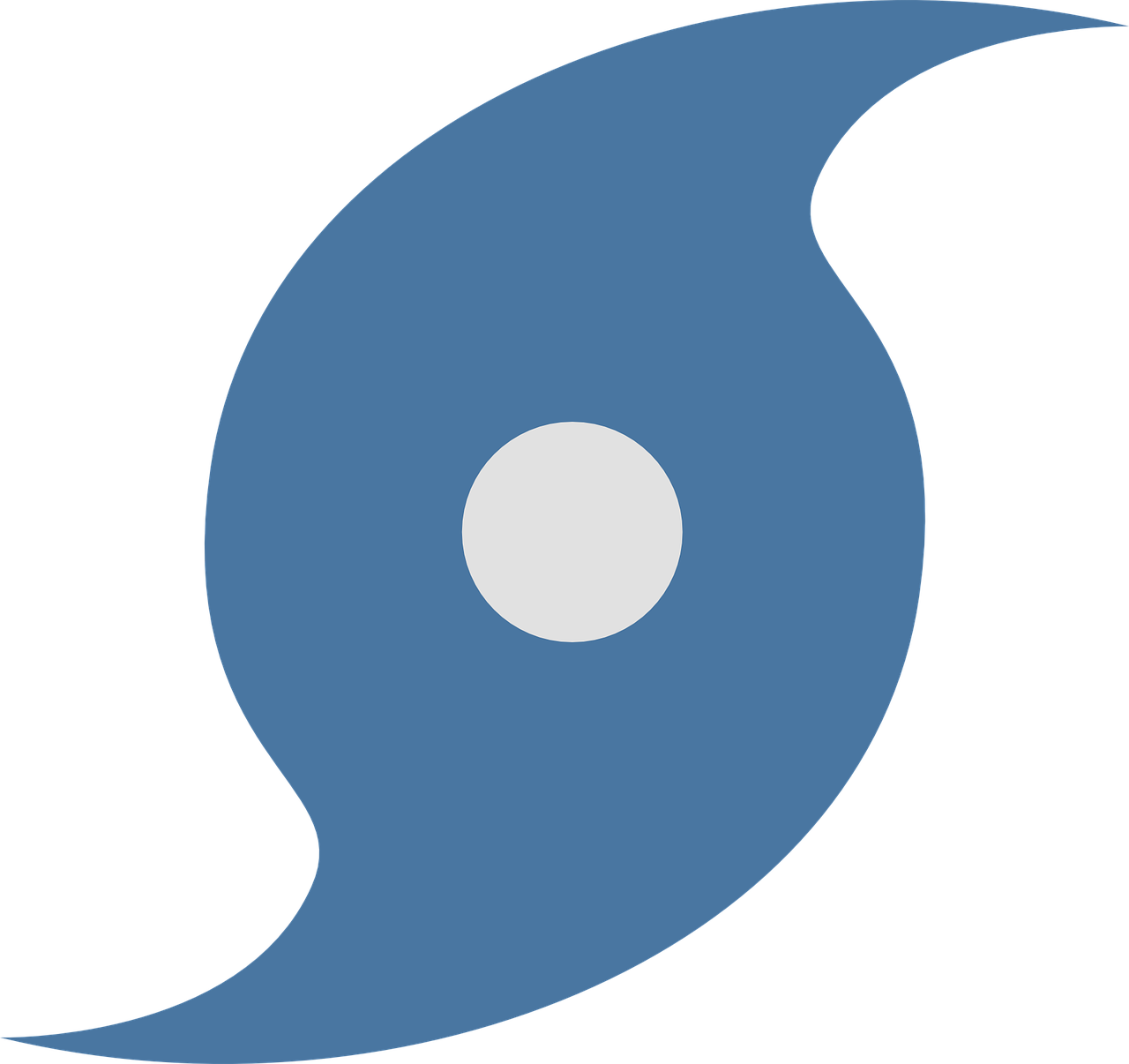 graphic of standard symbol for a hurricane