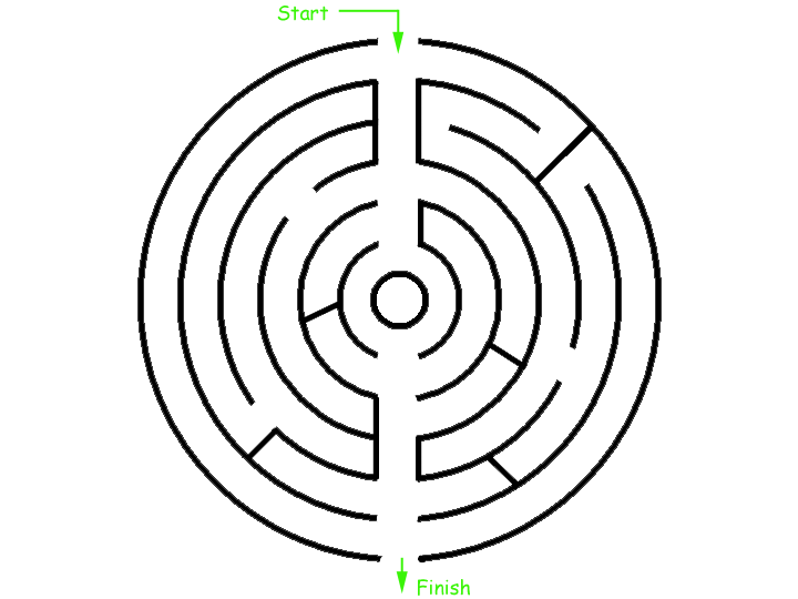 picture of maze to solve with pencil