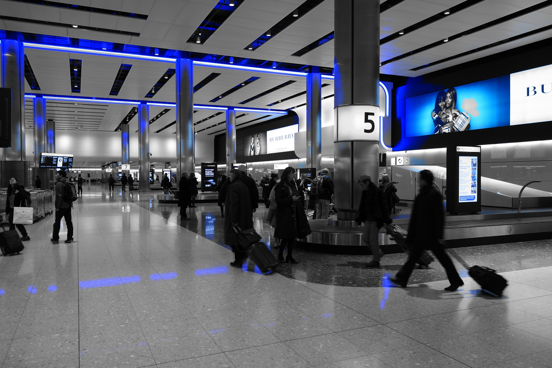 image of luggage carousel at airport